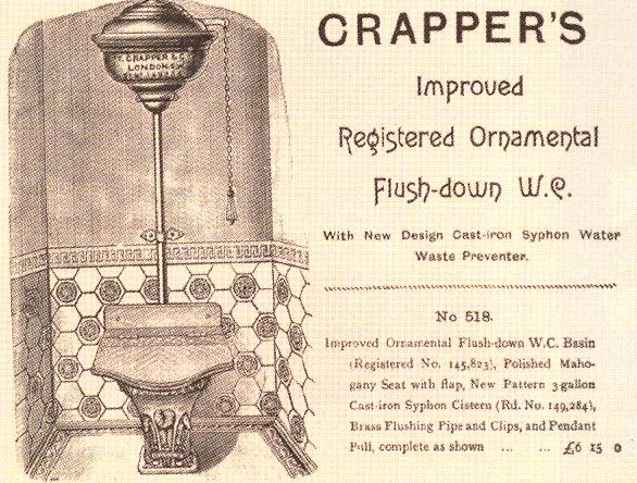 OK, not the oldest crapper, but one of Crapper's oldest crappers. No shit.